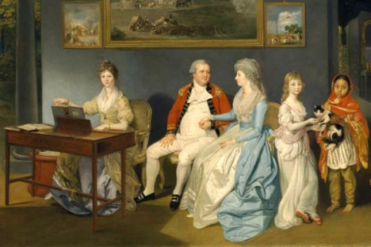 Colonel Blair with his Family and an Indian Ayah 1786 Johan Zoffany 1733-1810 Bequeathed by Simon Sainsbury 2006, accessioned 2008 http://www.tate.org.uk/art/work/T12610